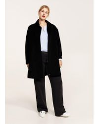 Violeta by Mango - Black Side Openings Coat - Lyst