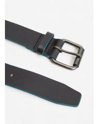 Mango - Black Leather Belt for Men - Lyst