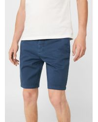 Mango - Blue 5 Pocket Bermuda Shorts for Men - Lyst