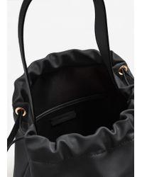 Mango | Black Hobo Bag | Lyst