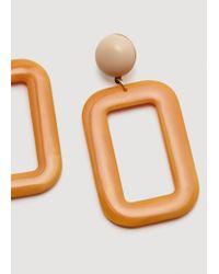 Mango - Orange Resin Earrings - Lyst
