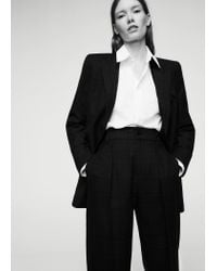 Mango | Blue Check Suit Trousers | Lyst