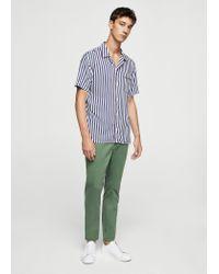 Mango | Green 5-pocket Cotton Trousers | Lyst