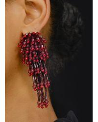 Mango - Red Crystal Beads Earrings - Lyst