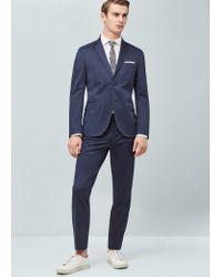 Mango | Blue Slim-fit Poplin Suit Blazer for Men | Lyst