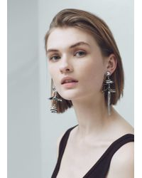 Mango - Black Mixed Pieces Earrings - Lyst