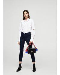 Mango | Blue Zip-pocket Slim-fit Trousers | Lyst