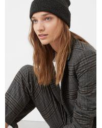 Mango - Gray Check Suit Blazer - Lyst