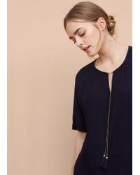 Violeta by Mango - Blue Tassel Shift Dress - Lyst