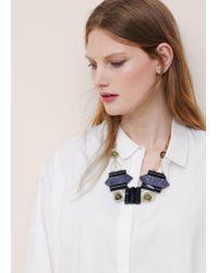 Violeta by Mango - Multicolor Mixed Piece Necklace - Lyst
