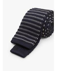 Mango | Black Textured Knit Tie for Men | Lyst