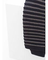 Mango - Black Textured Knit Tie for Men - Lyst