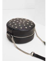 Mango - Black Stud Cross Body Bag - Lyst