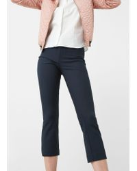 Mango | Blue Cotton Trousers | Lyst
