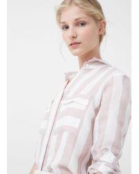 Mango   Multicolor Printed Flowy Shirt   Lyst