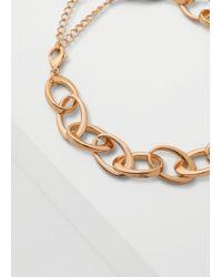 Mango - Metallic Link Chain Necklace - Lyst