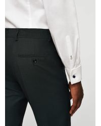 Mango - Blue Slim-fit Patterned Suit Trousers - Lyst