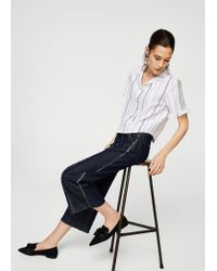 Mango - White Shirt - Lyst