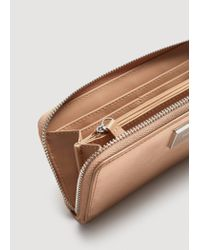 Mango - Metallic Zip Saffiano-effect Wallet - Lyst