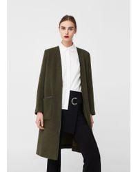 Mango | Multicolor Pockets Wool Coat | Lyst