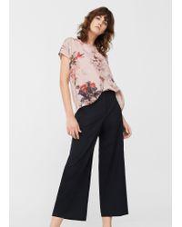 Mango | Pink Flowy T-shirt | Lyst