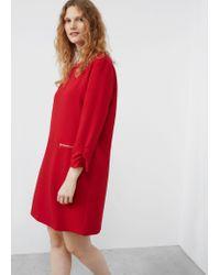 Violeta by Mango | Red Zipped Shift Dress | Lyst