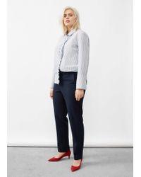 Violeta by Mango | Blue Detachable Belt Trousers | Lyst