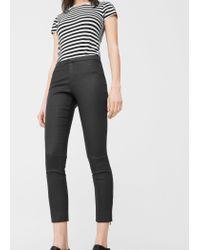 Mango | Black Zip-pocket Slim-fit Trousers | Lyst