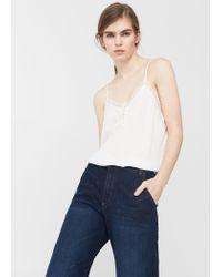 Mango | White Lace Appliqué Top | Lyst