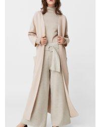 Mango | Pink Oversize Wool Coat | Lyst