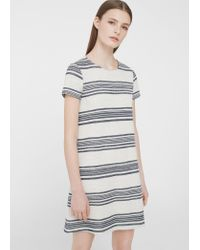 Mango | White Printed Cotton Dress | Lyst