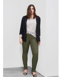 Violeta by Mango | Multicolor Slim-fit Cotton Trousers | Lyst