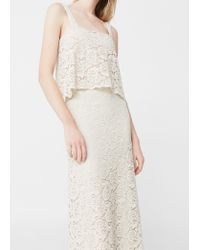 Mango   White Guipure Gown   Lyst