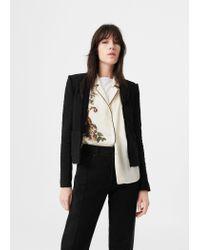 Mango | Black Frayed Edges Jacket | Lyst
