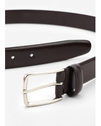 Mango | Brown Leather Suit Belt for Men | Lyst