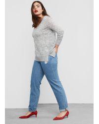 Violeta by Mango | Gray Metal Thread Sweater | Lyst