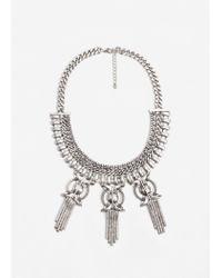 Mango | Metallic Pendant Chain Necklace | Lyst