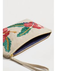 Violeta by Mango | Multicolor Embroidered Clutch | Lyst