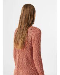 Mango | Pink Openwork Knit Sweater | Lyst