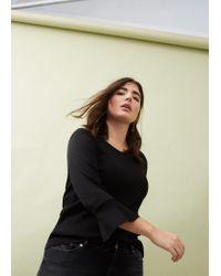 Violeta by Mango | Black Textured Sweater | Lyst
