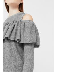 Mango | Gray Off Shoulders T-shirt | Lyst