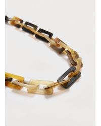 Violeta by Mango | Natural Link Necklace | Lyst