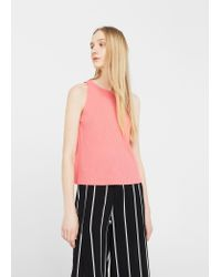 Mango | Pink Pleated Top | Lyst