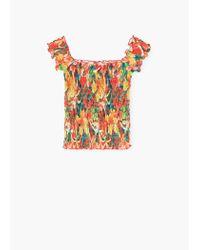 Mango | Orange Off-shoulder Top | Lyst