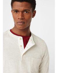 Mango   White Henley Cotton T-shirt for Men   Lyst