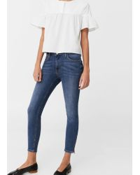 Mango - Blue Crop Skinny Isa Jeans - Lyst