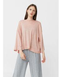 Mango | Pink Fine-knit Sweater | Lyst