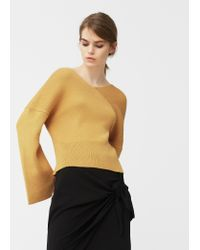 Mango | Yellow V-neck Sweater | Lyst