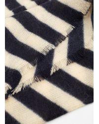Mango - Natural Striped Monochrome Scarf - Lyst