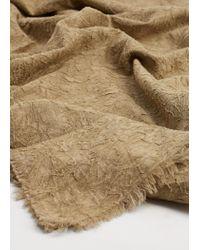 Violeta by Mango   Natural Textured Cotton Scarf   Lyst